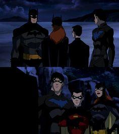 Young Justice Batman, Nightwing, Robin, & Batgirl