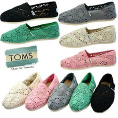 lace toms. too cute