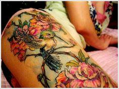 Cute Thigh Tattoos for Women: Nature Thigh Tattoos For Women ~ heledis.com Women Tattoo Design Inspiration