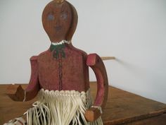 Antique Folk Art Jig Doll - front