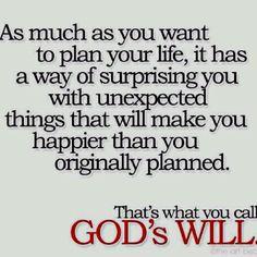 God's will...