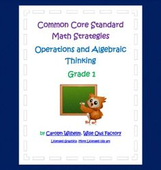 Grade 1 Math Practice PDF for a few of the common core operations and algebraic thinking math standards.  8 printable pages:  4 teachers pages and ...