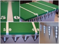 A Superbowl Party :: Make your serving table into an adorable football field!