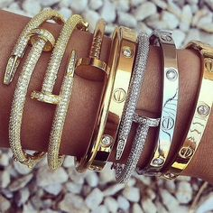 Silver & Gold Bangles. Arm candy at its best.