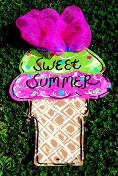 Summer Door Hanger Summer Decoration Summer Door by LooLeighsCharm, $45.00