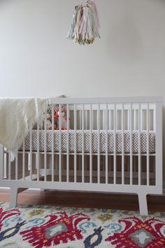 Isla's Nursery Reveal // Lulu & Georgia Indie Rug, Pearl // #nurserydecor #landgathome #luluandgeorgia