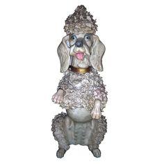 1950s Ceramic Poodle Signed Franju