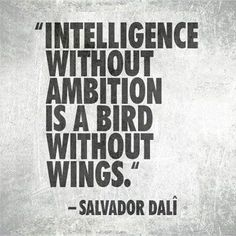[Intelligence without ambition is a bird without wings. - Salvador Dali] Write to give your ideas and insights flight....