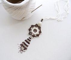 Crochet Necklace Long Necklace Ethnic Necklace by CraftsbySigita
