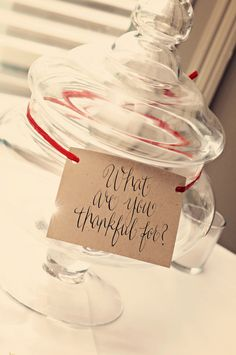 What are you thankful for table