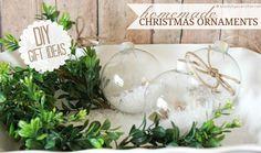 Handmade Christmas Ornaments {DIY Gift Idea} holiday, ornament diy, crafti, gift ideas, handmad christma, diy gifts, christma craft, christma ornament, christmas ornaments