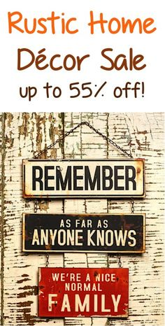 Rustic Home Décor Sale: up to 55% off!
