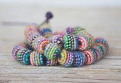 Handmade Fabric Textile Beads for Artisan by jimenastreasures
