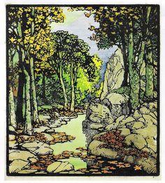 Frances Gearhart ~ woodblock print