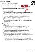 Checklist For Better Sleep Worksheet