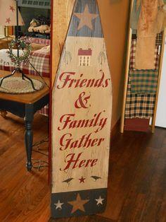 wood ironing board