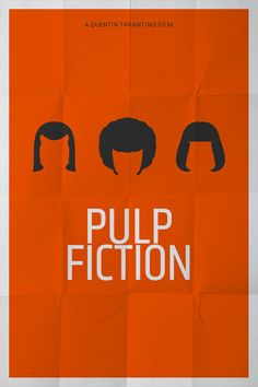 minimal pulp fiction poster by pedro vidotto #pedrovidotto #pulpfiction #minimal