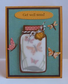Jar Card Get Well Butterfly