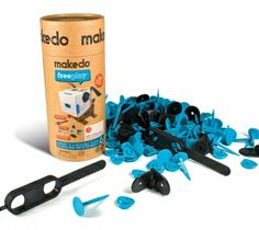 Makedo Kit. So cool! With this kit and some old cardboard, your kids can make almost anything.