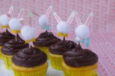 eggcel easter, cupcak topper, paper craft, bunni cupcak, easter decor, easter cupcakes, easter bunny, diy, cupcake toppers