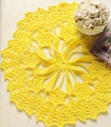 Free Crochet Daffodil Doily Pattern