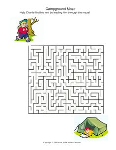 camp activities, campground maze, summer camp