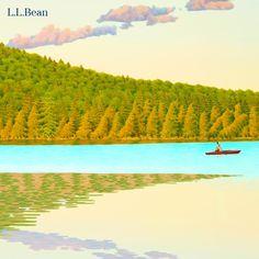 L.L.Bean Late Summer 2013 catalog cover art by Maine artist Alan Bray.  http://www.caldbeck.com/artist_info.html?artist_id=13