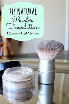 DIY Natural Powder Foundation #diy #green #beauty