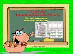 PLACE VALUE INTERACTIVE NOTEBOOK FREEBIE from TeachToTell on TeachersNotebook.com -  (13 pages)  - This resource features an interactive activity to identify and write the value of a digit by its place in a number and a game to reinforce reading and writing whole numbers.