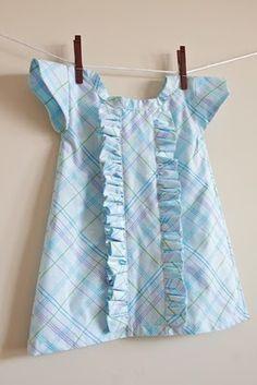 pillowcase ruffle dress tutorial