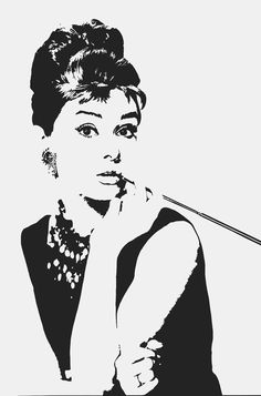 Audrey Hepburn wall decal Breakfast at Tiffany's inspired removable sticker. $24.95, via Etsy.