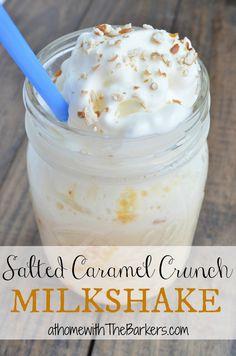 Salted Caramel Crunch Milkshake salt caramel, crunch milkshak, caramel milkshak, caramel crunch