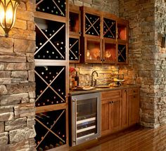I really like this recessed wet bar.