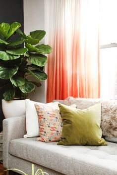 draw, decor, ombr curtain, living rooms, colors, apartment design, ceilings, threshold ombre curtains, apartments