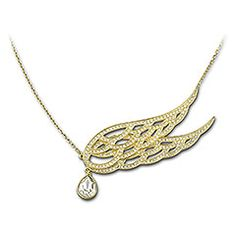 fashion jewelleri, necklac 1106466, golden wing, swarovski crystals, necklaces, swarovski outlet, protect necklac, crystal protect