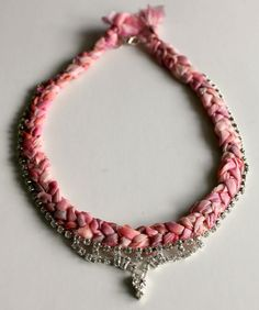 Vintage Jewelry and Braided Hand Dyed Fabric