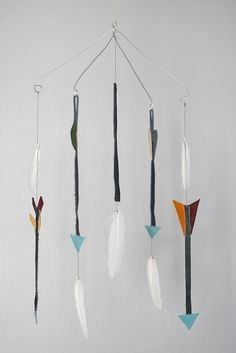 feather/arrows mobile