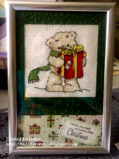 What a cute festive pic of Lickle Ted, as stitched by Debbie. using our free kit way back in issue 104 of the mag ;)