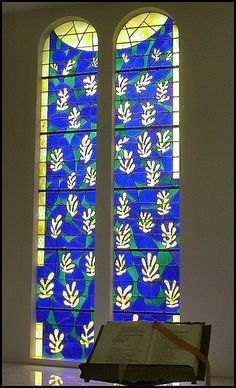 The Chapelle du Rosaire, glass window, glasses, matiss window, art, chapell du, stainedleadedwat glass, france, stain glass, stained glass