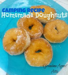 Camping Breakfast Doughnuts - OMG Soooo Good! Super easy to make with just Pillsbury biscuits, oil and sugar. No need to write down this recipe, you can remembers it off the top of your head!