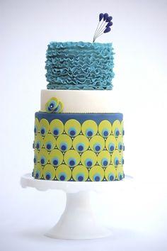 Peacock Wedding Cake... i like the top layer