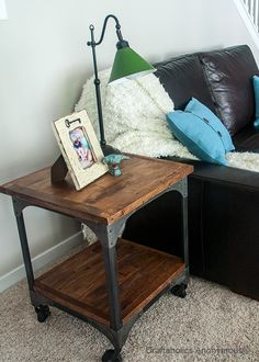 Love this side table on casters! @Hannah Teague Market #WorldMarket_HGTV