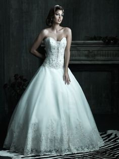 Allure Bridals : Couture Collection : Style C206 : Available colours : White/Silver, Ivory/Silver