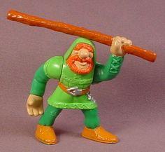Fisher Price 1998 Little John Figure with Staff, Orange Hair & Beard, 77040 Great Adventures