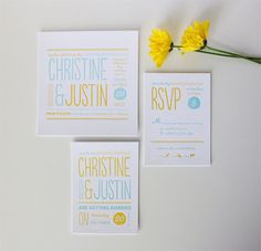 Custom Letterpress Wedding Invitations by Honizukle via @papercrave