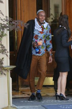 Yasiin Bey (fka Mos Def) wore this to the West's wedding.