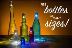 Bottle Lights turn nearly any empty bottle into a lamp.