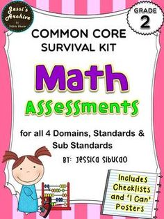 "#CommonCoreMathAssessment - 91 pages - this pack includes assessments for the 26 Math standards. The assessments were carefully made to help you identify if the student mastered the standards or not. ""I Can"" posters were also included to constantly remind the students what standards they are currently working on.  Includes:  Assessment sheets for each standard  Checklists for 30 students  Half and Whole Page ""I Can"" Posters"