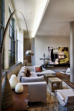 Contemporary Union Square Loft in Manhattan by  David Howell Design