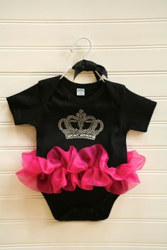 Princess Crown Onesie. $23.00, via Etsy.